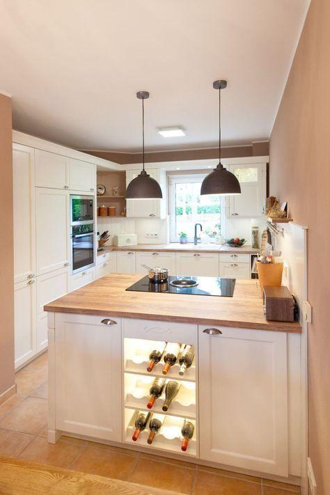 Moderne Landhauskueche Weiß Klassisch Holz Kueche Kochinsel #wohnungküche
