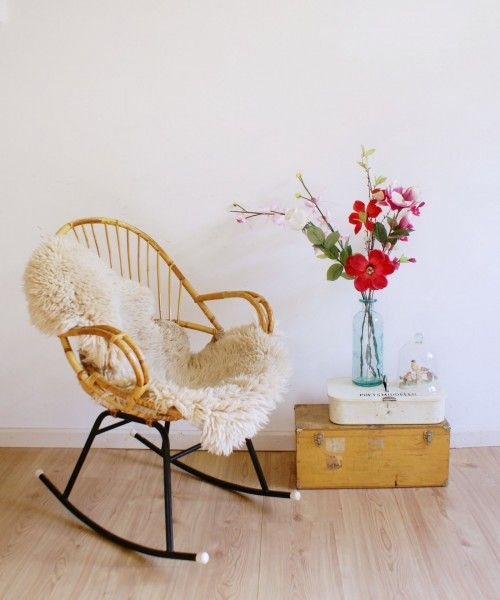 Vintage Rohe rocking chair