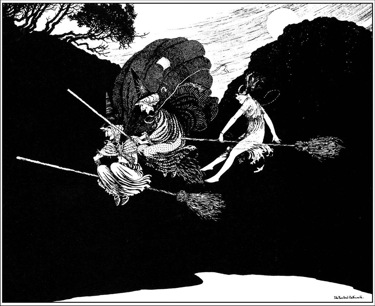 #Bruxa Ilustração de Ida Rentoul Outhwaite (9 June 1888 – 25 June 1960), uma ilustradora Australiana de livros infantis.