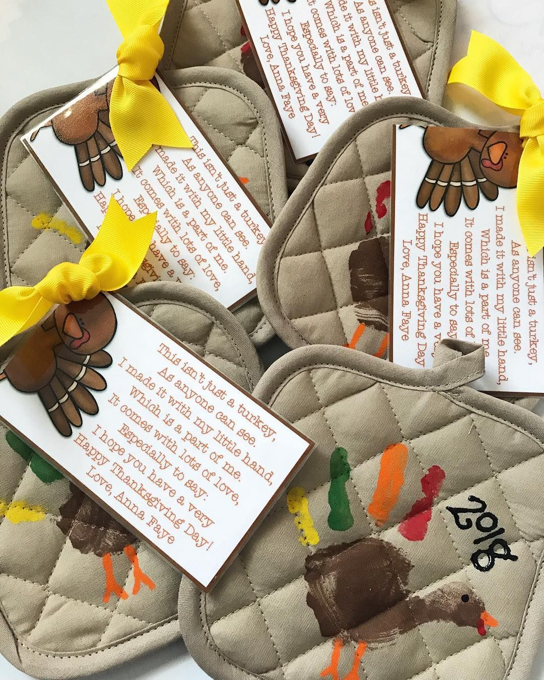 "Erin Eberhart Lynch on Instagram: ""Grandparent Thanksgiving gifts are done! @annafayelynch and I had SO much fun painting these. Thanks to her 2 day a week preschool, and all…"" #grandparentsdaycraftsforpreschoolers"