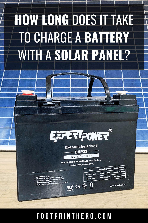 Solar Panel Charge Time Calculator Solar Panels Diy Solar Power System Solar