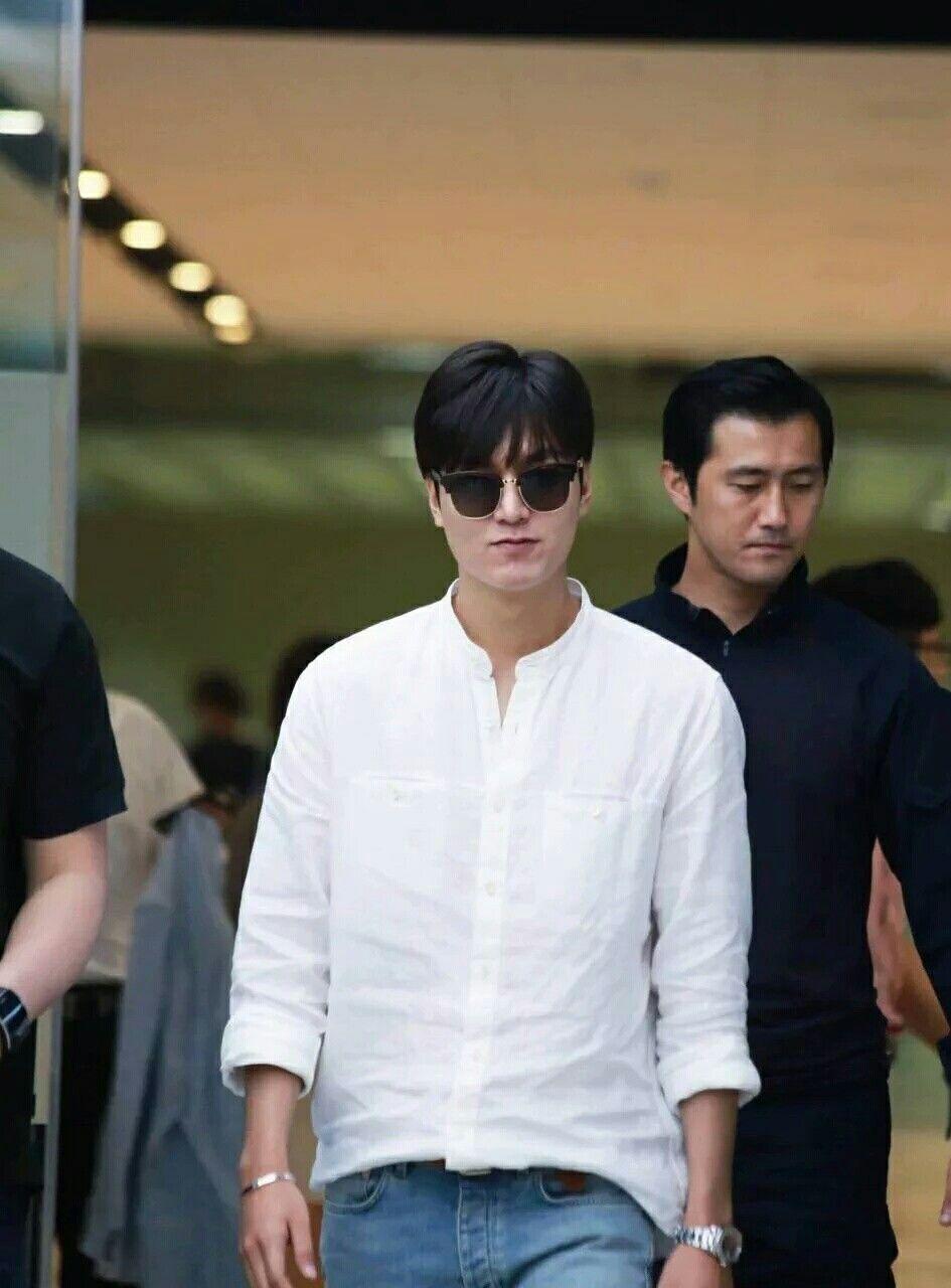 #LEEMINHO a su llegada al aeropuerto Gimpo regresando de la Isla Jeju.  (9/Junio /16)  Cr.logo