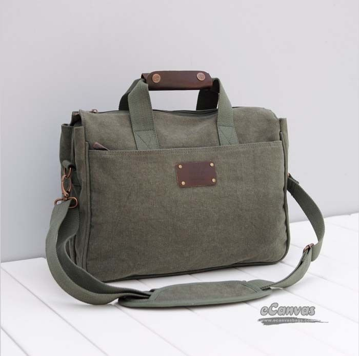 14 Laptop Case Netbook Army Green Beige E Canvasbags