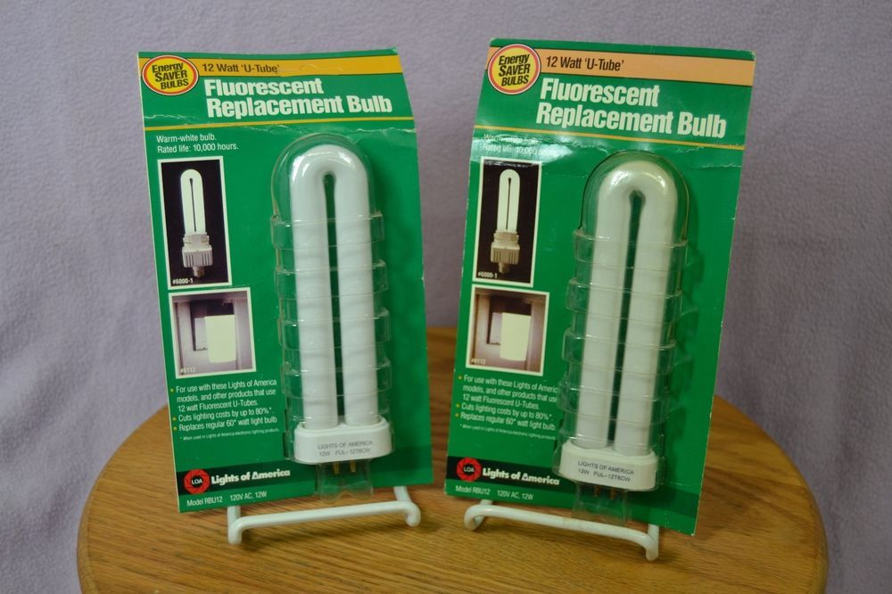 Two Lights Of America RBU12 12 Watt U Tube FUL 12T6CW Warm Fluorescent  Bulbs #LightsofAmerica