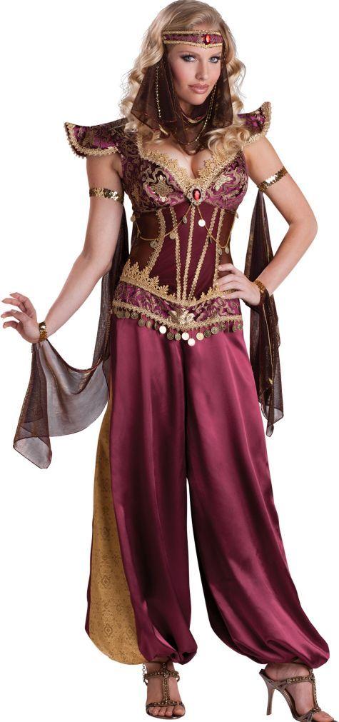 CityCostumes Deguisement Princess Party Adult Costume Arabian redQxBoCEW