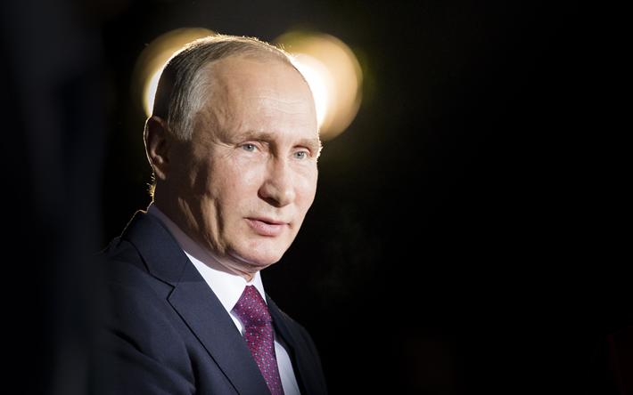 Download wallpapers Vladimir Putin, portrait, 4k