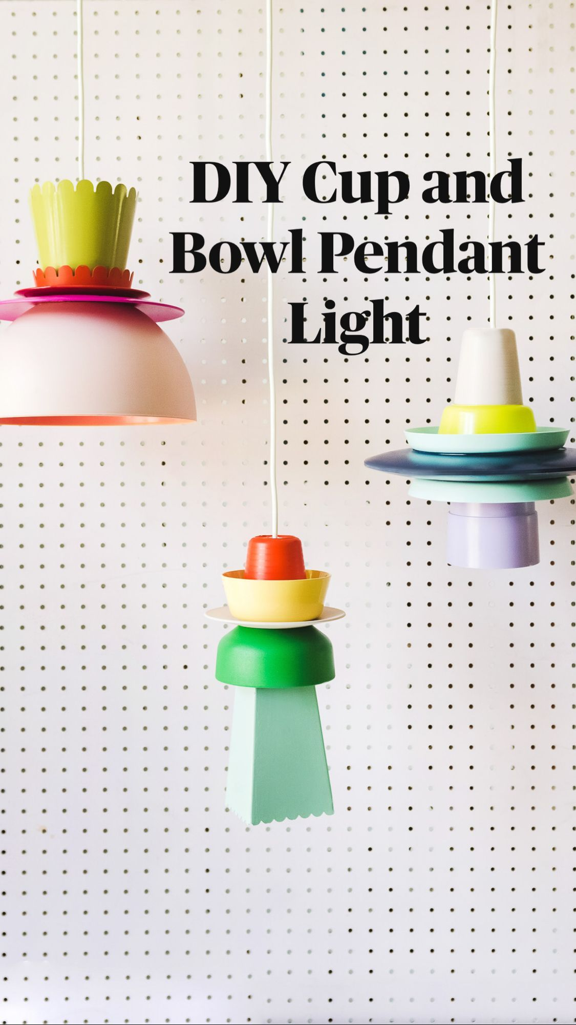 Cool DIY Cup and Bowl Pendant Light