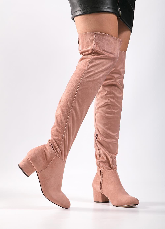 122d17375c Μπότες Over the Knee-Ροζ - ΓΥΝΑΙΚΕΙΑ ΠΑΠΟΥΤΣΙΑ - LUIGI FOOTWEAR ...