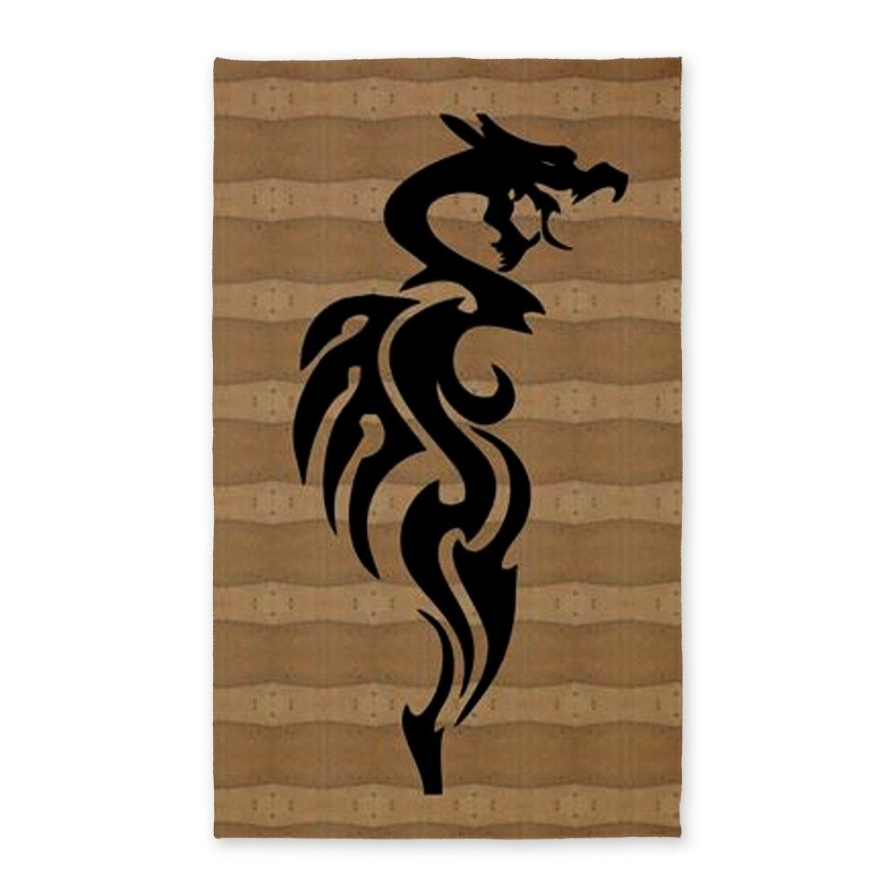 Black Dragon 3'x5' Area Rug