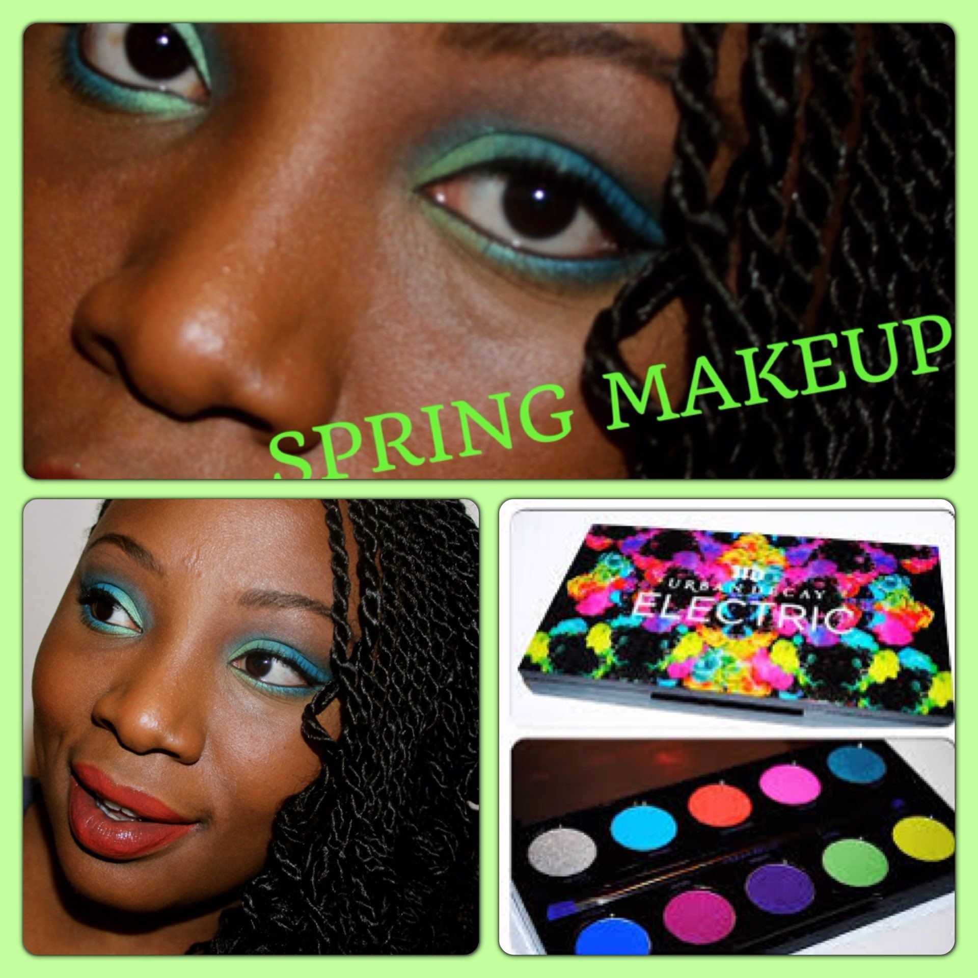 SPRING MAKEUP TUTORIAL W/ URBAN DECAY ELECTRIC PALETTE BLUE GREEN