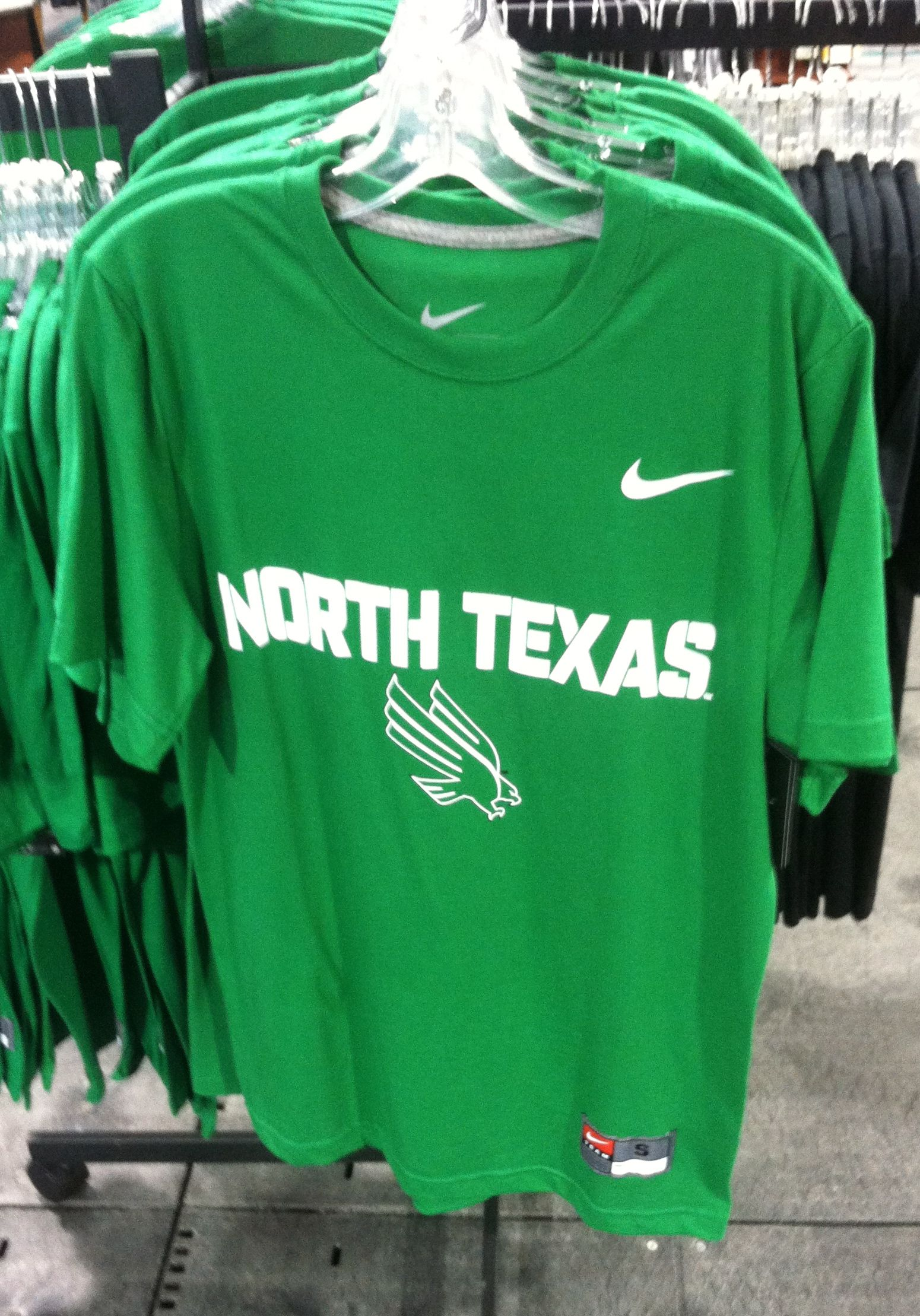 c777c4569a1b Nike North Texas DriFit shirt for  24.98 at the UNT Barnes and Noble  bookstore white tent