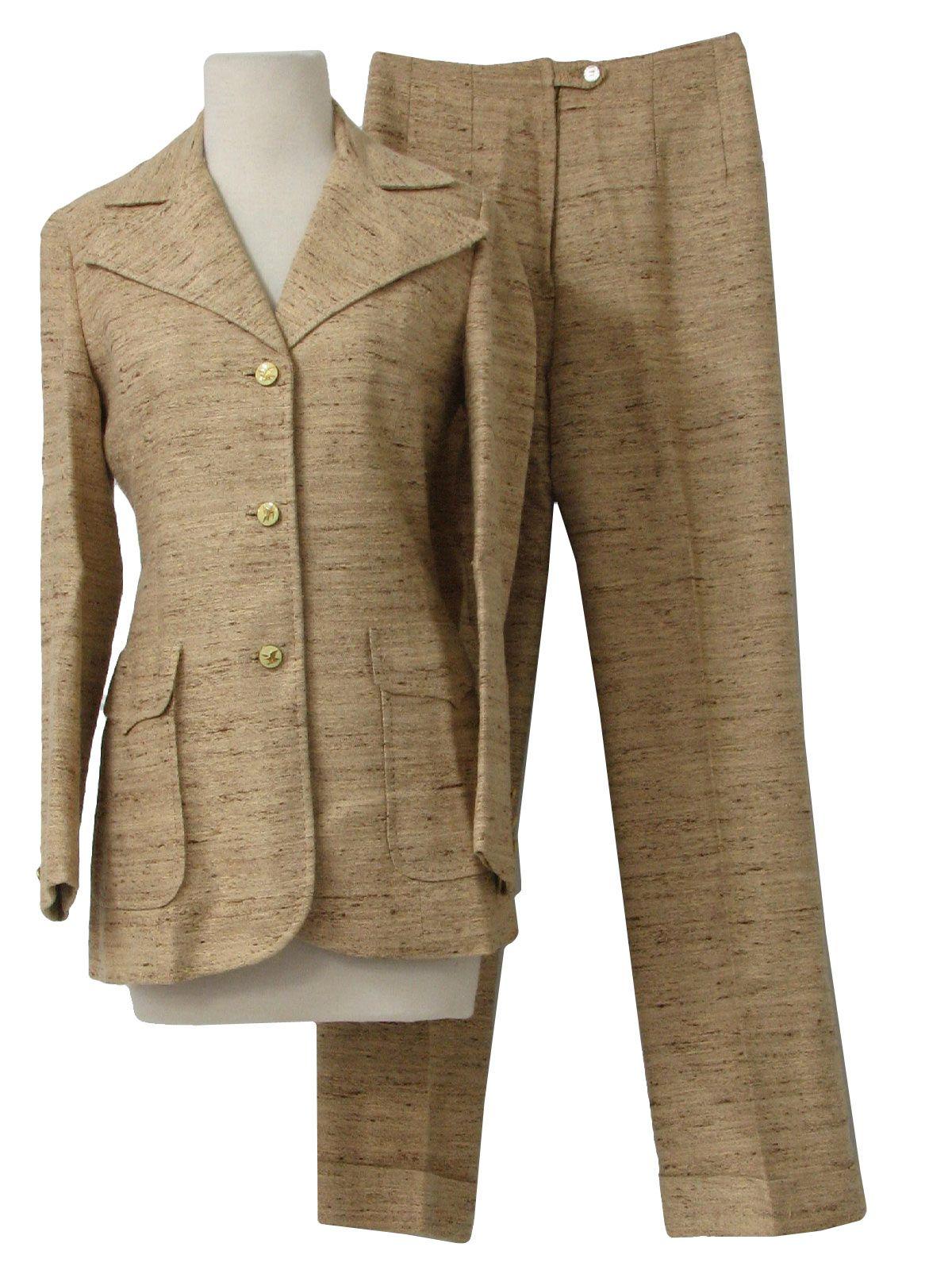 1960' Era Vintage Women' Pant Suit Billionaire'