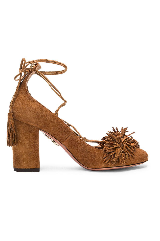AQUAZZURA Suede Wild Heels. #aquazzura #shoes #