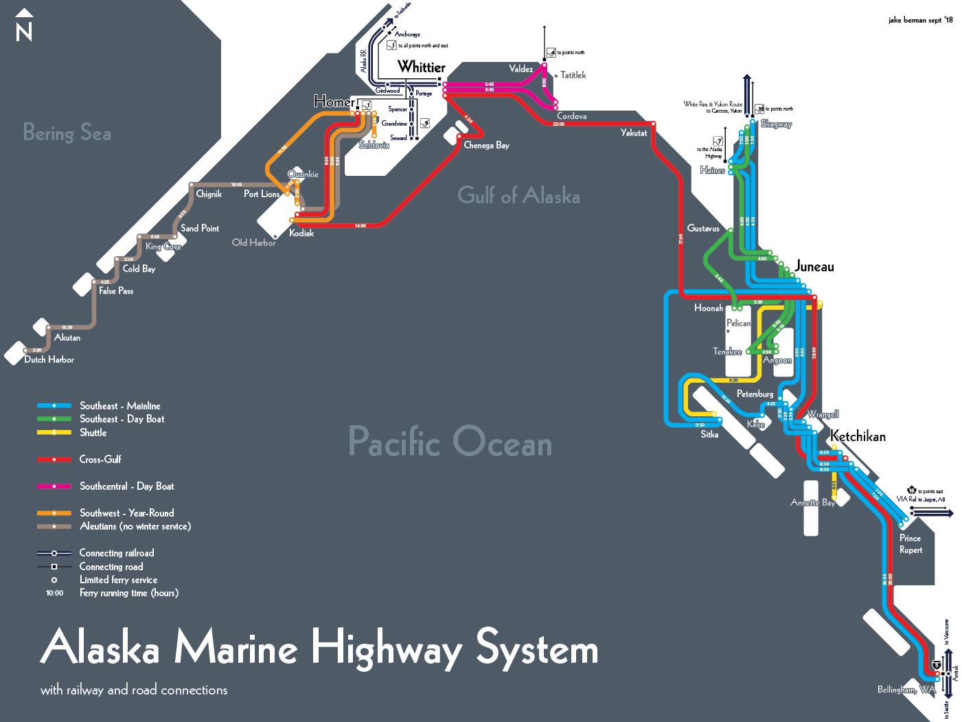 alaska marine highway system Alaska, Gulf of alaska