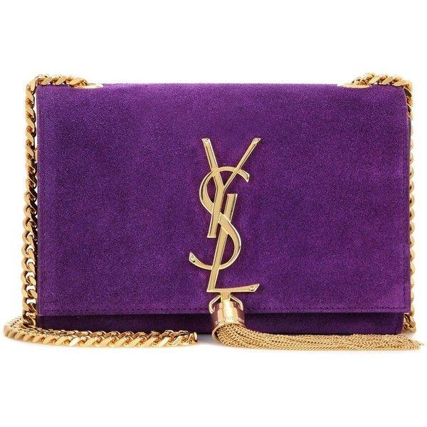 419727af91 YSL Yves Saint Laurent Purple Suede Small Monogram Tassel Bag ($2,400) ❤  liked on Polyvore featuring bags, handbags, shoulder bags, purple, purple  purse, ...