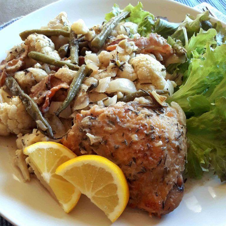 Chicken Dishes Under 200 Calories: Slow Cooker Chicken Dinner