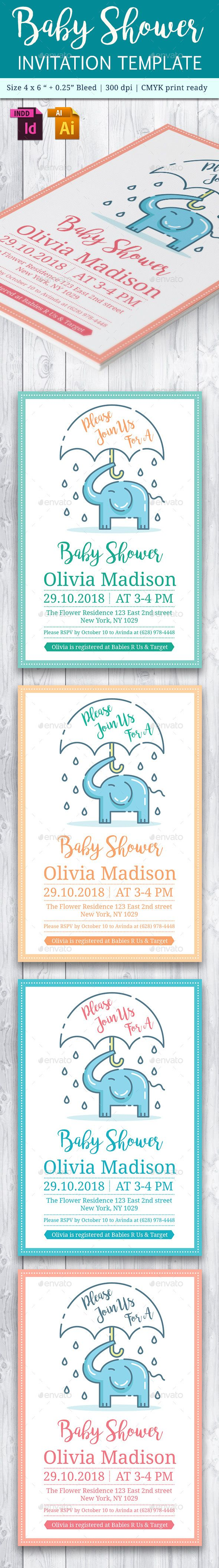 Baby Shower Template - Vol. 19 | Baby shower templates, Template and ...
