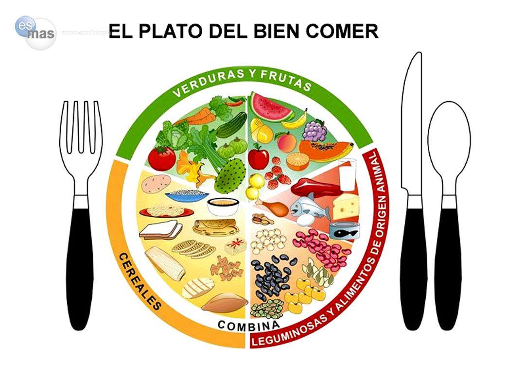 El Plato Del Bien Comer Es Una Herramienta Dise Ada Para Guiar A  ~ Aprender A Comer Bien Para Adelgazar