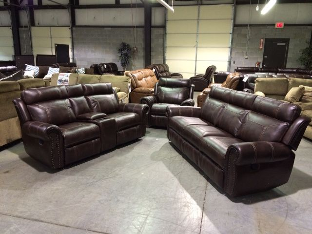 Bolero Nailhead Reclining Sofa And Console Love Seat Adam