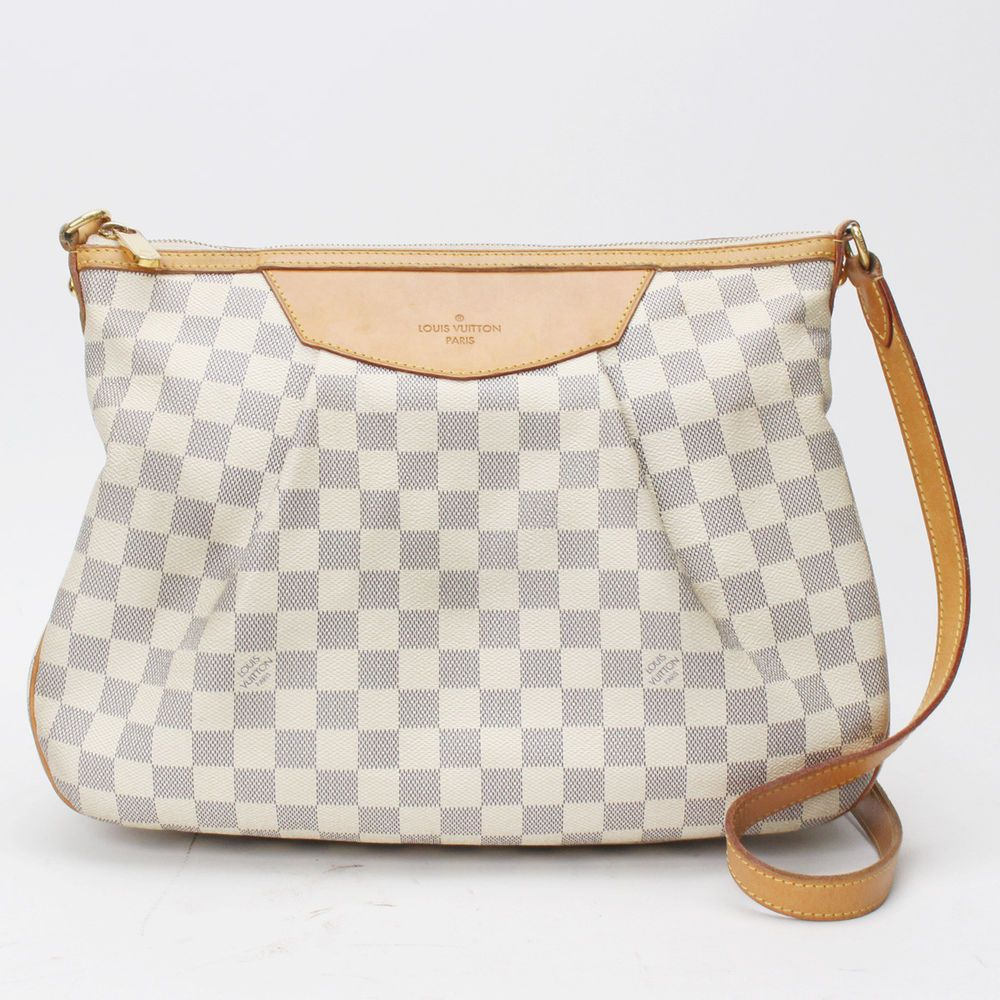 ced6e3acbf38 Auth Louis Vuitton Siracusa MM Damier Azur N41112 Cross Body Bag N41112  10114552  fashion  clothing  shoes  accessories  womensbagshandbags (ebay  link)