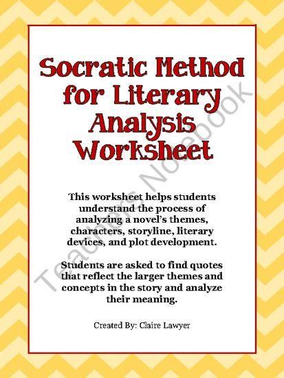Socratic Method Literary Analysis Worksheet From Different Drummer