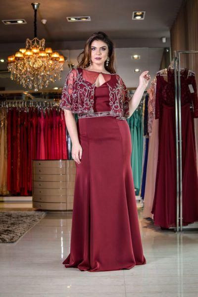 Plus Size Mãe Dos Vestidos De Noiva Azul Royal Tafetá