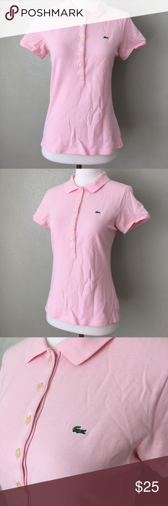 Lacoste light pink logo polo shirt lacoste polo shirts and polos lacoste light pink logo polo shirt sciox Images