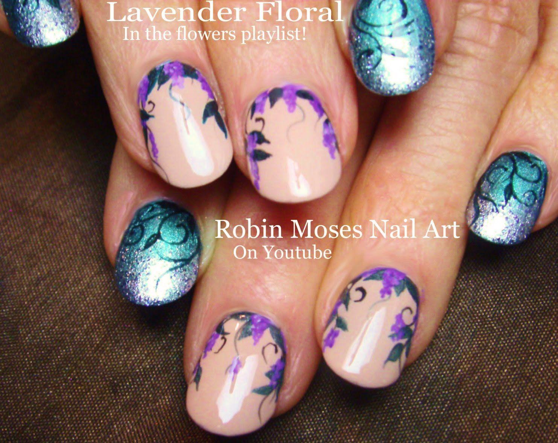 Nail Art Tutorial Diy Lavender Flower Nails Summer Filigree Nail Design Nail Art Tutorial Flower Nails Elegant Nail Art