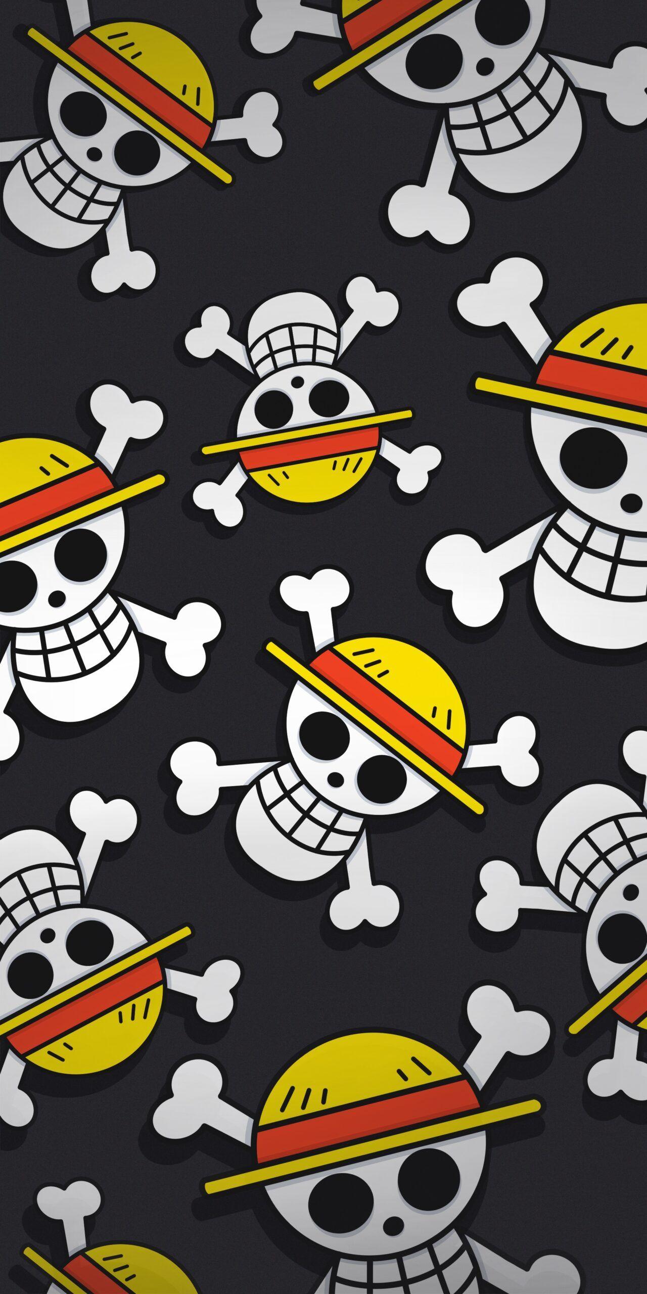 🏴☠️ One Piece Straw Hat Pirates Logo Dark Wallpapers - Wallpapers Clan
