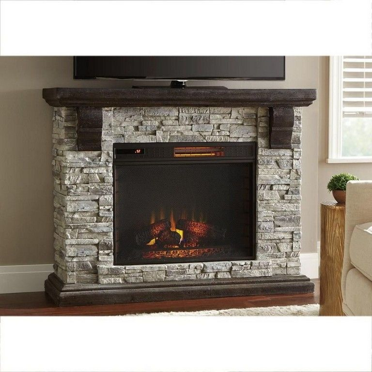 Home Decorators Collection Highland 50 In Faux Stone Mantel Electric Fireplace In Gray 103058 In 2020 Freestanding Fireplace Electric Fireplace Standing Fireplace