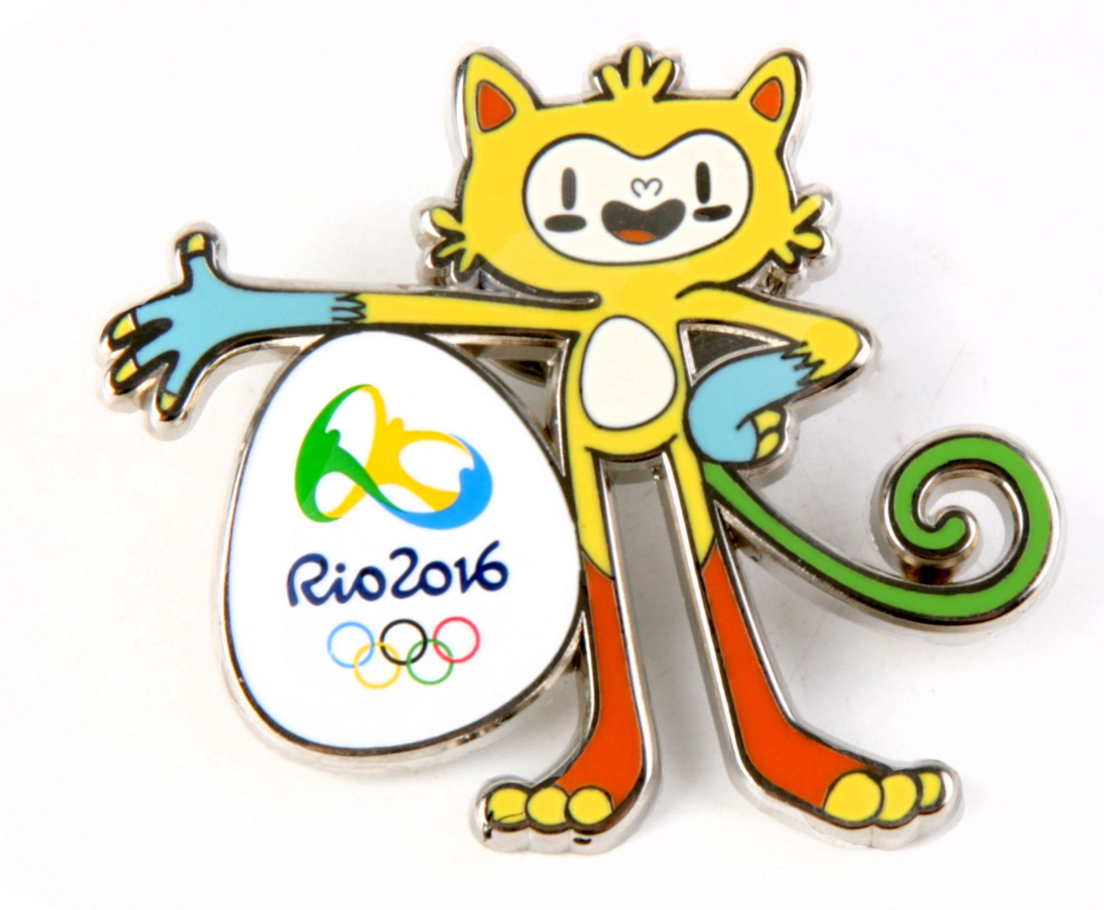 Olympic rings logo rio 2016 olympics logo designed by fred gelli - Pin Do Mascote Ol Mpico Rio2016 Vinicius