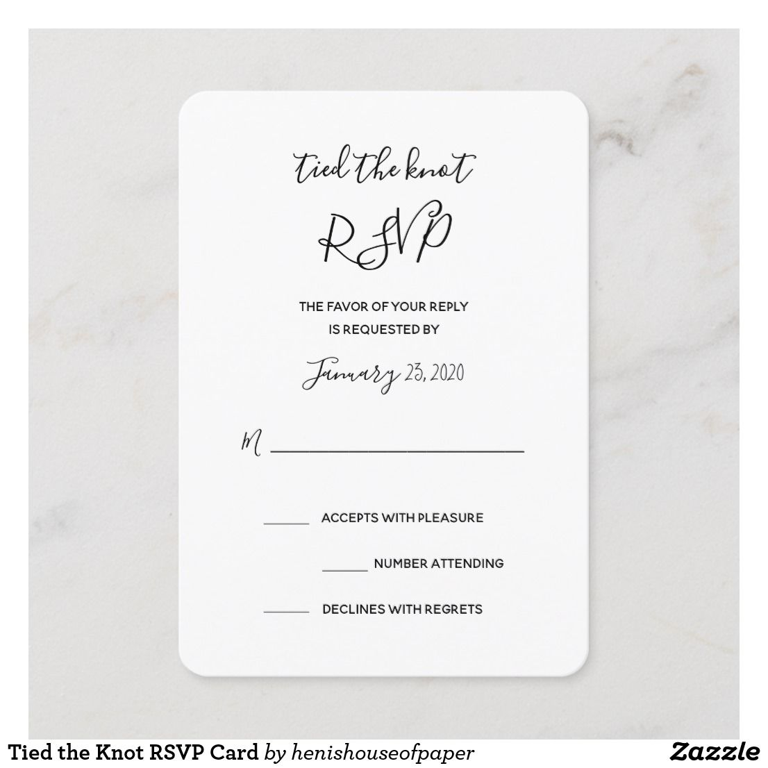 Tied The Knot Rsvp Card Zazzle Com Fun Wedding Invitations Fun Wedding Rsvp Rsvp Card