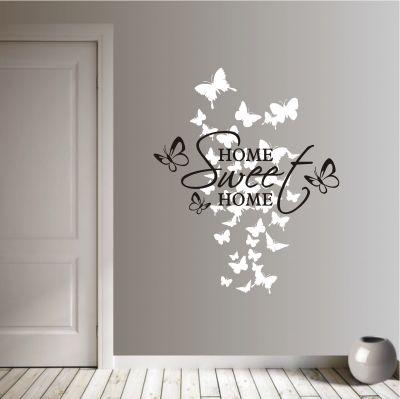 deko-shop-24de-Wandtattoo-Home Sweet Home 2-farbig Wandtattoo - wohnzimmer deko online shop