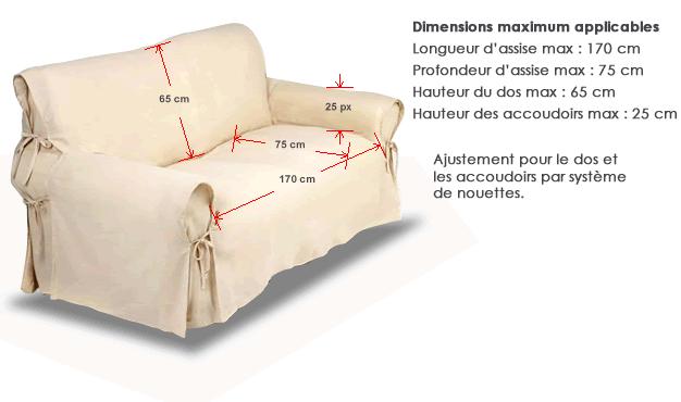 Housse De Canape Ecru Ivoire Avec Nouettes D Ajustement Les Douces Nuits De Mae Linge De Maison Slip Covers Couch Slipcovers Home Diy