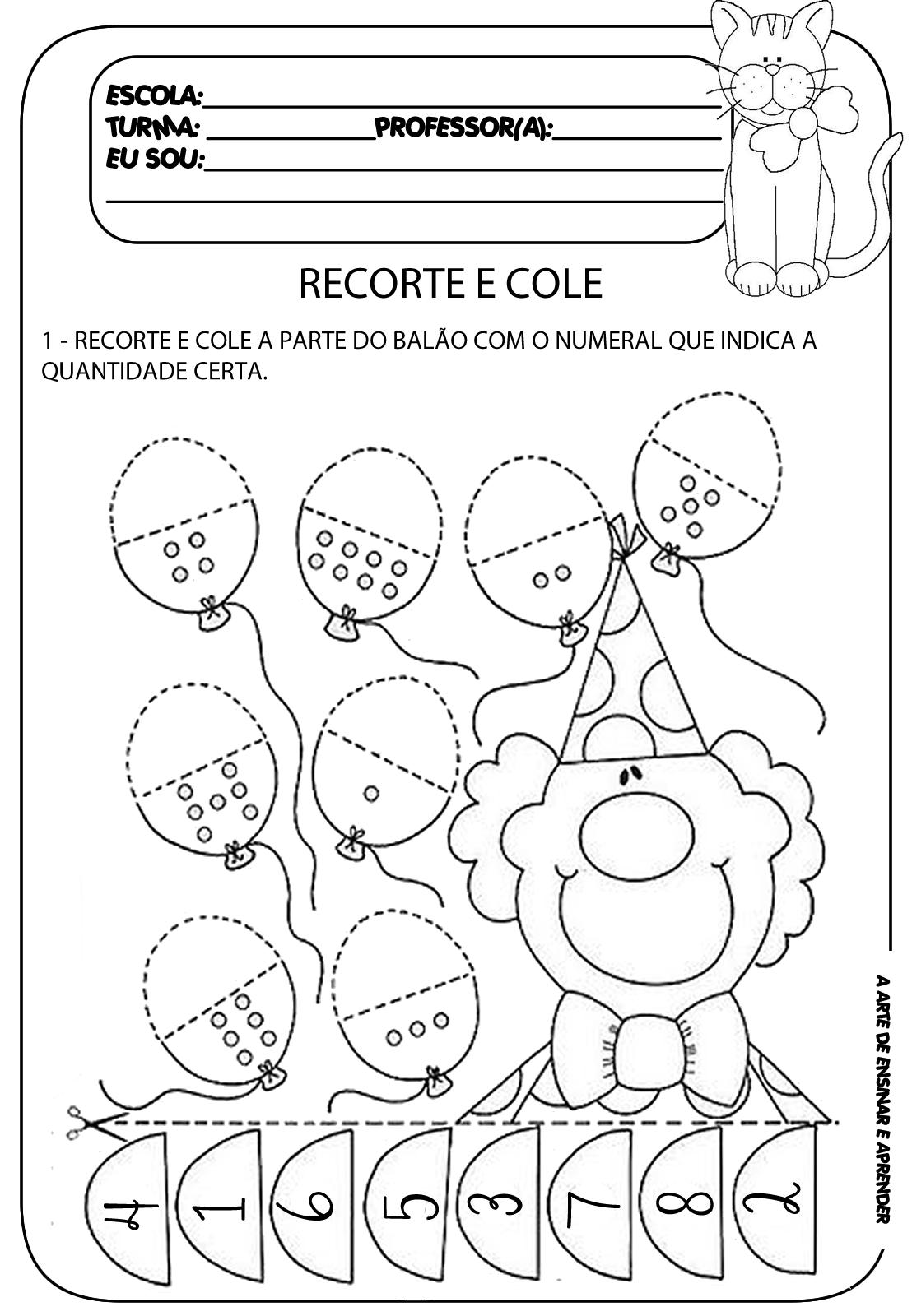 recorte+e+cole.png (1108×1600) | Numeros | Pinterest | Kindergarten ...