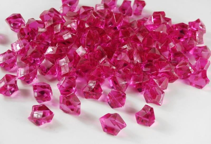 Table Scatter Vase Gems Fuchsia Pink 34lb Bag Cape May