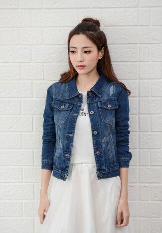 Denim Jacket Women Short Jeans Overcoat Ladies Jackets Tops