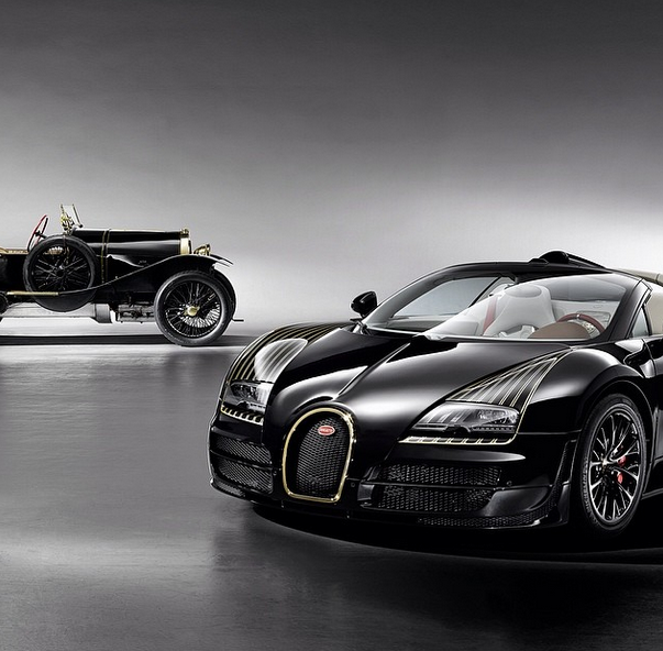 Bugatti Veyron Grand Sport Vitesse Painted In Black And: Bugatti Veyron Grand Sport Vitesse, Bugatti