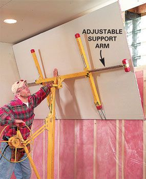 How To Hang Drywall Use A Lift Hanging Drywall Drywall Drywall Installation