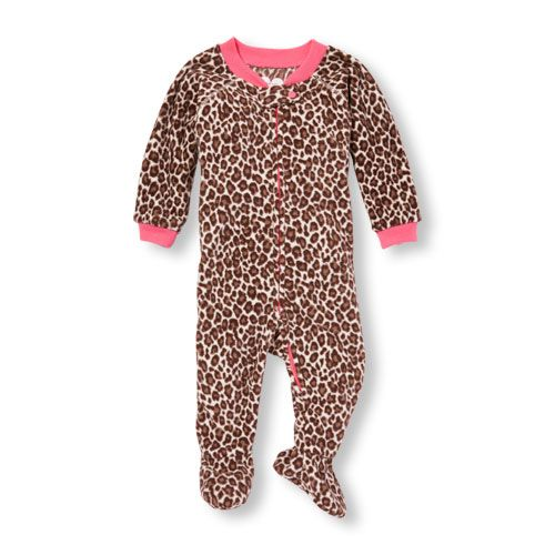 48cc63e59 Baby And Toddler Girls Long Sleeve Leopard Print Blanket Sleeper ...