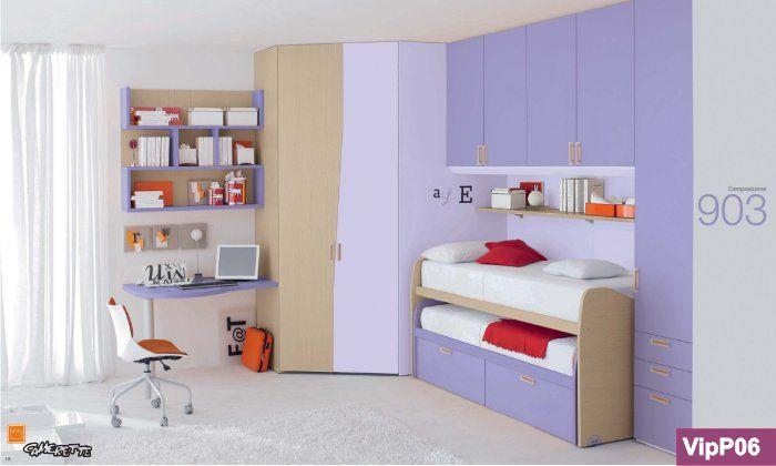 Cabina armadio angolare e armadio a ponte camerette bedroom purple bedrooms e girls bedroom - Armadio camera bambini ...