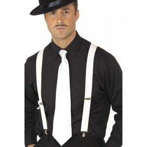 New 1920s Mens Boys Hat Tie Braces Gangster Roaring Pimp Fancy Dress Accessories