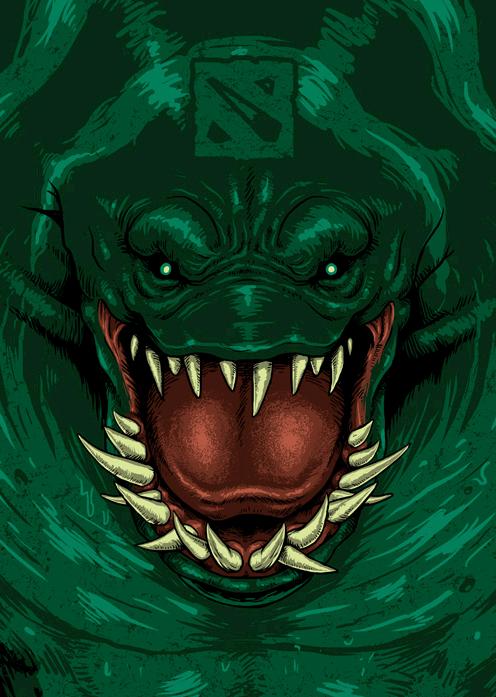 Wallpaper Desktop Just Doodling After Playing Dota2 Tide Hunter On My Style 24illustration