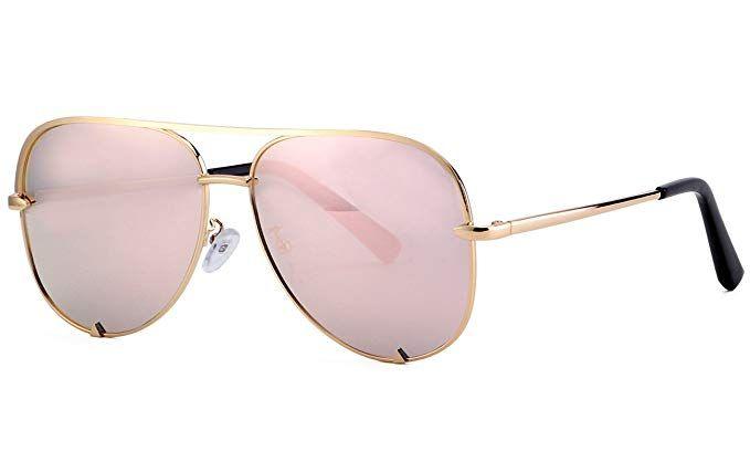 c4f9aceec Eyerno Mirrored Aviator Sunglasses For Men Women Fashion Designer UV400 Sun  Glasses(Rose gold)