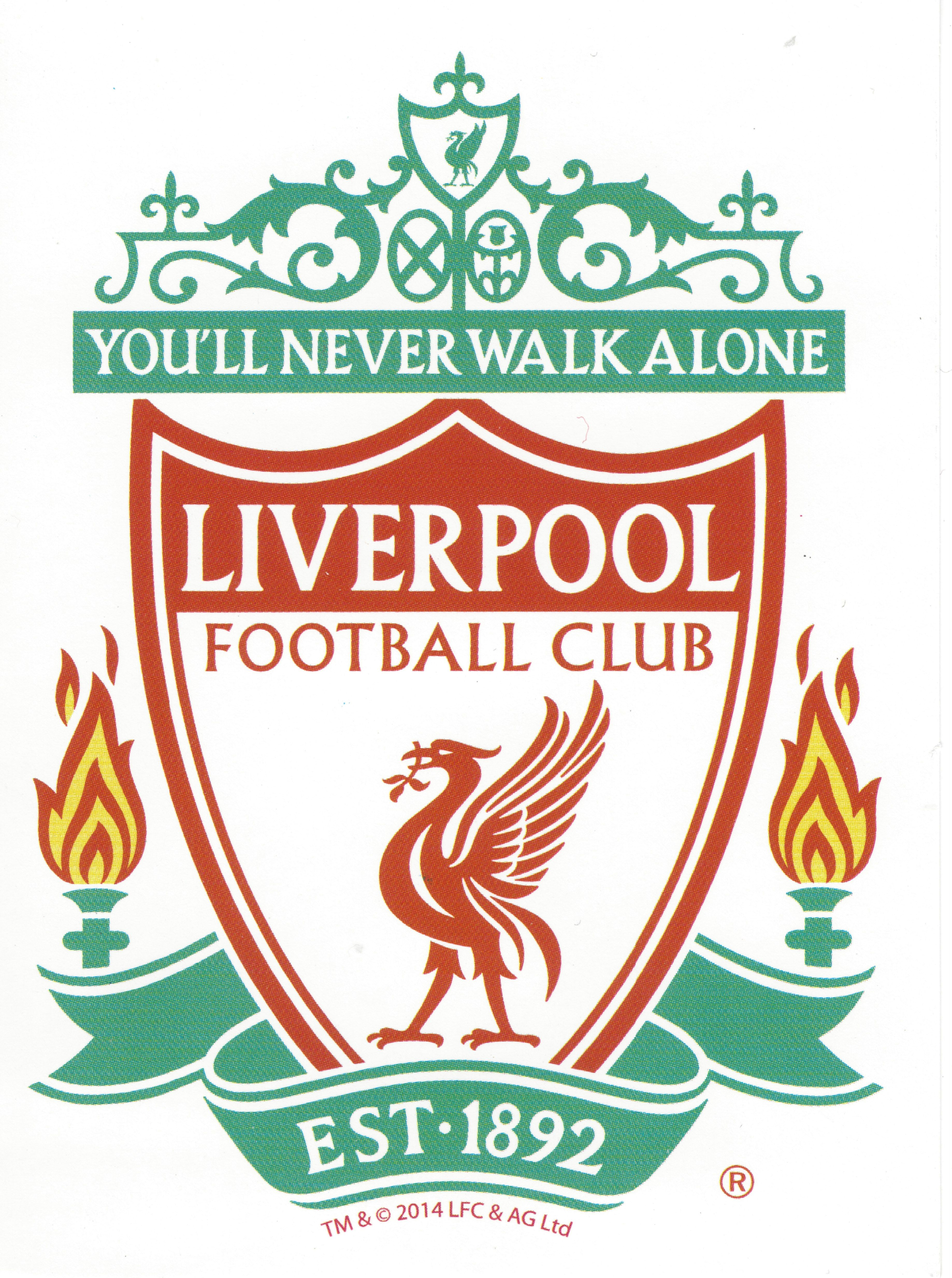 Official liverpool fc color crest cling decal