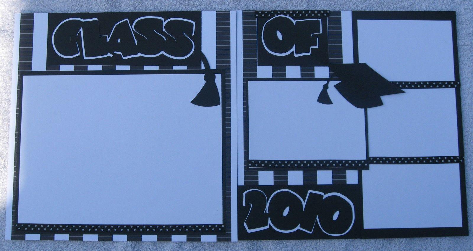 Scrapbook ideas graduation - Class Of 2010 Graduation June Bug 12x12 Pre Made Cut Scrapbook Layout