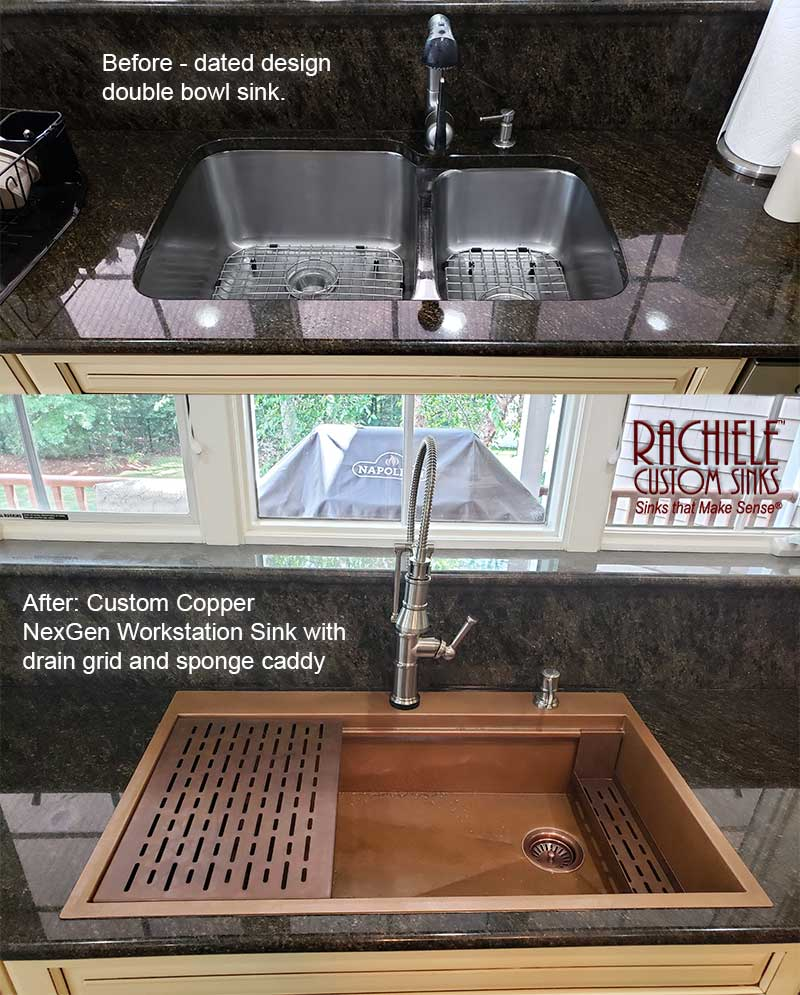 Drop In Copper Retrofit Sinks Made In The Usa One Day Installation Easy To Convert To A Sink Where You Can Do All Food Prep In 2020 Sink Custom Sinks Sink Replacement