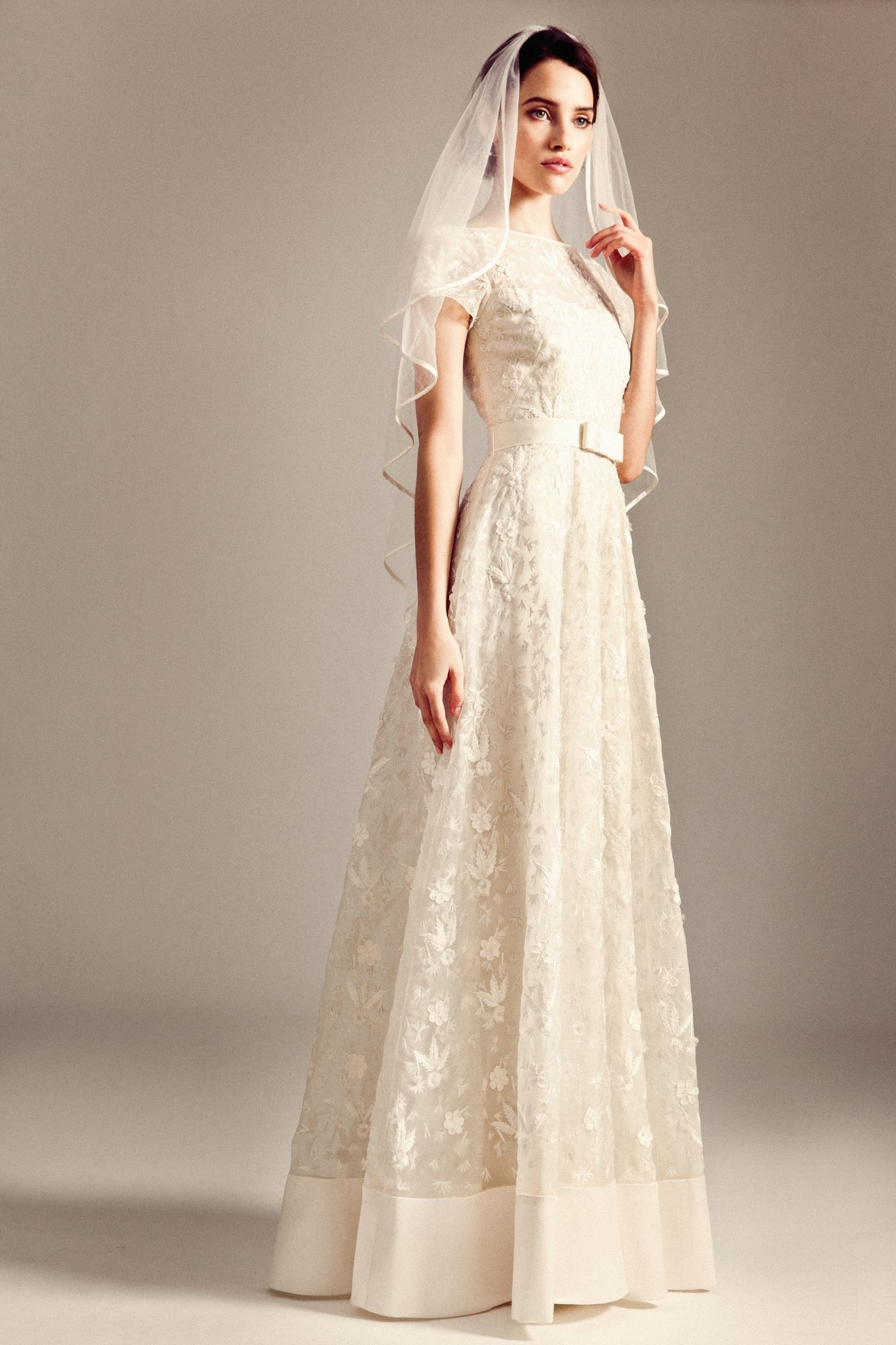Dawn Dress, Heart Shaped Veil from Temperley Bridal Iris Collection ...