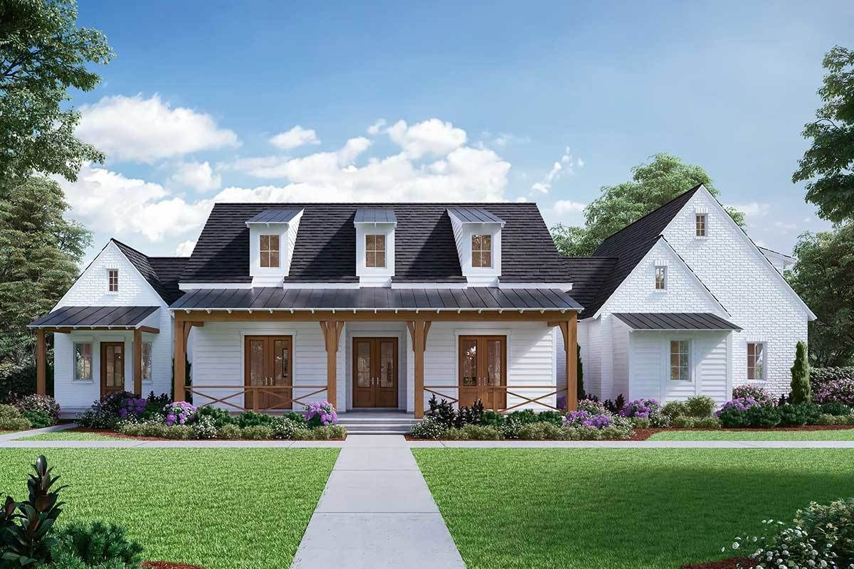 Plan 510045WDY 4Bedroom Farmhouse Plan with MainFloor