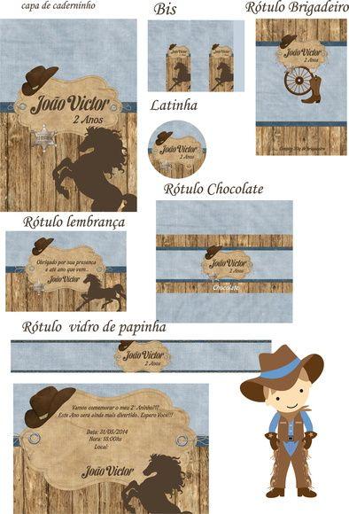 Kit Festa Cowboy Decoração Festa Country 42d8256a68e